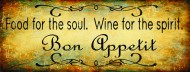 Food for the Soul Wine for the Spirit