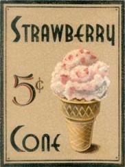5839 strawberry cone